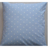 """NEW Large 24"""" Floor Cushion Cover Baby Blue White Polka Dots Spots Nursery"""