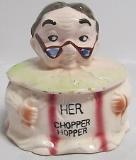Vintage ArtMark Chopper Hopper Old Woman False Teeth Holder