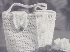 Vintage Crochet PATTERN Crocheted Bucket Bag Purse Tote