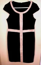 The Limited Dress Size Large Career Black Sheath Womens Stretch Capped Sleeves