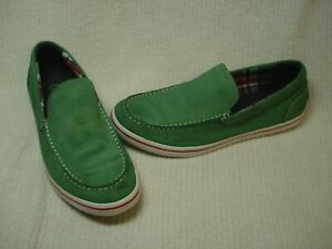 Men's Cole Haan slip on Loafers boat casual shoes leather green 11.5  M