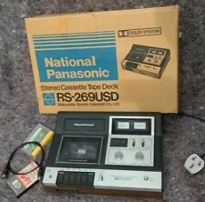 More details for national panasonic stereo cassette tape deck rs-269usd (noisey output) free p&p