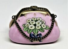 Limoges France Box - Rochard - Pink Purse & Chain - Flowers - Calla Lily Bouquet