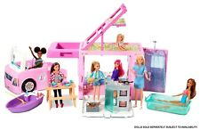 *New Barbie Estate 3In1 Dreamcamper Vehicle With Pool, Truck,Boat,50 Accessories