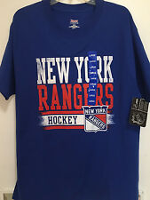 NEW YORK RANGERS Blue Large LG Tee Shirt Short Sleeve Hanes Beefy-T 100% Cotton