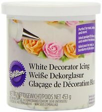 Wilton Decorator Decorating Ready To Use WHITE Icing Sugarcraft Frosting Filler