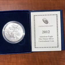 2012-W Burnished Silver Eagle American ASE .999 Fine 1 Oz Round Coin OGP