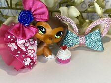 Authentic Littlest Pet Shop Lps # 675 Red Brown White Dachshund Savannah Savvy