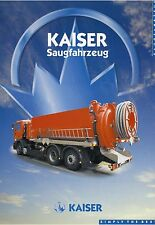 Prospekt Kaiser Saugfahrzeug 2001 Kommunalfahrzeug LKWs Nutzfahrzeug brochure