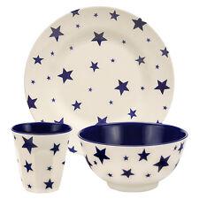 Unique Emma Bridgewater 3-Piece Starry Skies Melamine Set Plate Bowl Beaker