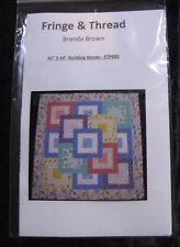 """Log Cabin  """"Building Blocks"""" Quilt Top~Pattern Only  for Baby, Wall, Lap 44"""" Sq"""