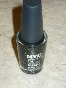 NEW NYC NAIL POLISH QUICK DRY IN HAUNTED BLACK SILVER HALLOWEEN EXCLUSIVE 2012