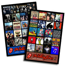 "ROLLING STONES twin pack magnet set (two 4.75"" x 3.75"" magnets) blue & lonesome"