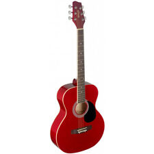 NEW Stagg SA20A Full Size Auditorium Style Acoustic Guitar - Red