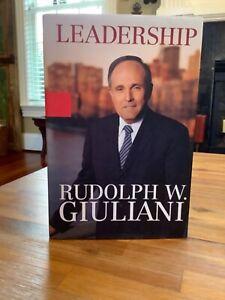 SIGNED 1st EDITION~ LEADERSHIP ~ RUDY (RUDOLPH) GIULIANI 2002