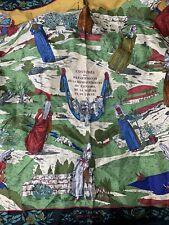 Hermes' Silk Scarf Costumes des Departments by Zoé Pauwels Vintage 1989 Designer