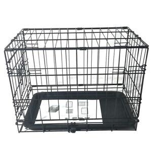"20"" Pet Kennel Cat Rabbit Folding Steel Crate Animal Playpen Wire Metal Cage"