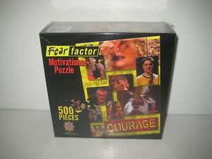 New and Sealed FEAR FACTOR 500 Piece Jigsaw Puzzle Courage