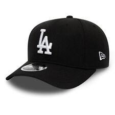 NEW ERA MENS 9FIFTY BASEBALL CAP.NEW LA DODGERS BLACK STRETCH SNAPBACK HAT C580
