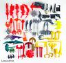 BATMAN - BIG LOT OF WEAPONS - Original Action Figure Replacement Parts