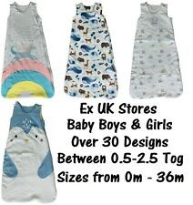 BABY SLEEPING BAG EX UK STORES BOYS GIRLS COTTON TOG 0.5-2.5 RANDOM PICK NEW