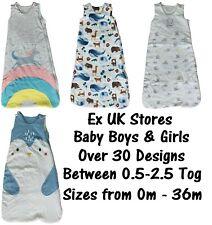 BABY SLEEPING BAG EX UK STORES BOYS GIRLS COTTON TOG 0.5-2.5 RANDOM PICK NEW