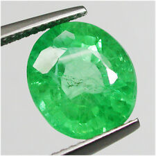 7.05ct Dazzling Diffusion Colombian Green Emerald Chathum Antique Cut Oval gem