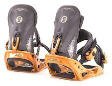 2004 BURTON MISSION GREED SNOWBOARD BINDINGS $250 L Gold 1ST Edition Cartel RARE