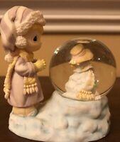 Enesco Precious Moments Snow Water Globe Snowman Christmas  Collectible Vintage