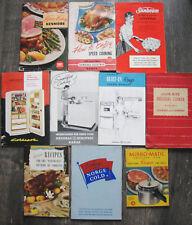 Vintage Appliance Recipe Books, Manuals 1940s-1960s - GE, Coldspot, Kenmore