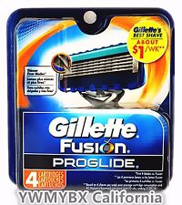 Gillette Fusion Proglide Razor Blades 4 cartridges, 100%AUTHENTIC, #008