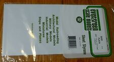 """Evergreen Styrene #9020 Styrene 3 Sheets Plain - 6 x 12"""" 15.2 x 30.5cm -- .020"""""""