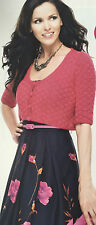 KNITTING PATTERN Ladies Short Sleeve Cropped Cardigan Textured Rowan PATTERN