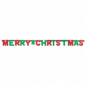 Merry Christmas Foil Letter Banner Party Decoration Christmas Bunting Garland