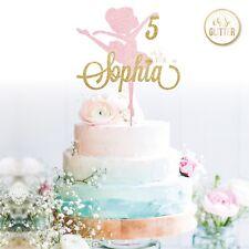 Ballerina cake topper, name cake topper any age glitter topper ballet birthday 1