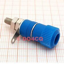 10er Pack Polklemmen 4mm blau - Buchse, Schraubklemme und Lötfahne ( I01D )