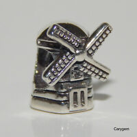 New Authentic Pandora Charm Windmill Bead 791297 W Suede Pouch
