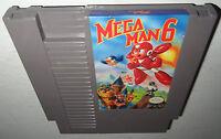 NICE COND Nintendo NES Game MEGA MAN 6 Cleaned Super Fun RARE! VI Awesome