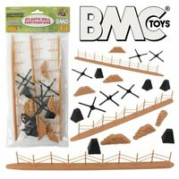BMC WWII D-DAY Battlefield Sandbags Fence More 1/32 Army Men Playset FREE SHIP