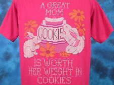 vintage 90s A Great Mom Worth Her Weight In Cookies T-Shirt M/L cartoon rabbit