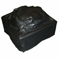 "Square Fire Pit Cover Heavy 38"" L x 38"" W x 28"" H 10 Guage Vinyl Zipper Protect"