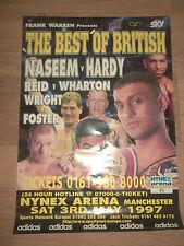 "Original boxe poster ""the best of british"" naseem hardy reid wharton Nynex"