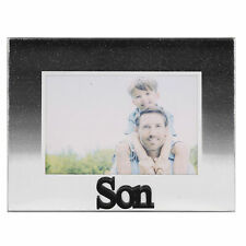 Glass 5'x3.5' Photo Frame with Glitter and Mirror Letters - Son