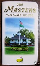 2016 Masters Augusta National Official Yardage Guide