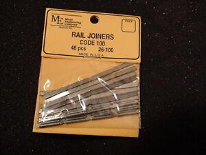 MICRO ENGINEERING #26-100 48PC RAIL JOINERS HO CODE 100 BIGDISCOUNTTRAINS