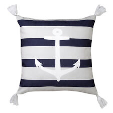 Logan and Mason Anchor Navy Striped Square Filled Cushion 45cm x 45cm
