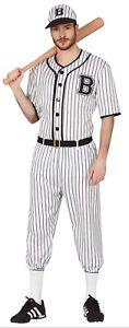 Hommes Noir Blanc Baseball Américain Lecteur SPORTS Déguisement Film Costume