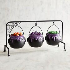 """2"" Hanging Cauldron Halloween Serving Bowls Set  Pier 1 SOLD OUT ""BROKEN"" !!!"