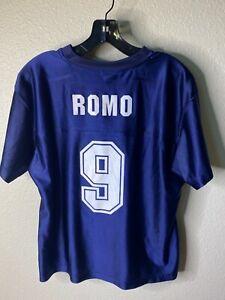 Dallas Cowboys Jersey Tony Romo 9 Girl Size Large Blue Short Sleeve Fan Wear NFL