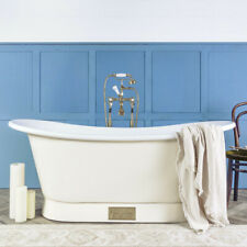 Witt & Berg Copper Bateau Bathtub - Ivory Exterior / White Enamel Interior